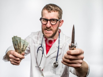 20662857-greedy-rich-doctor-with-stethoscope-switchblade-money-and-glasse