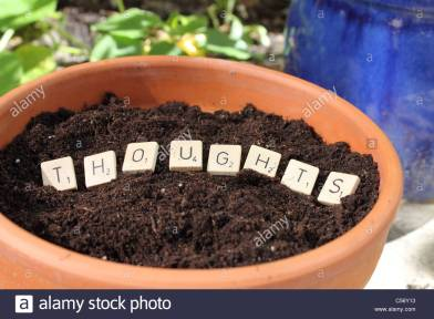 the-word-thoughts-in-a-pot-with-earth-planting-thoughts-c56y13